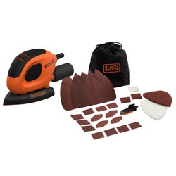 Black and Decker - 55W Mouse Detailschuurmachine met 15 accessoires in softbag - BEW230BC