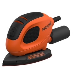 Black and Decker - 55W Mouse Detailschuurmachine met 6 schuurvellen - BEW230K