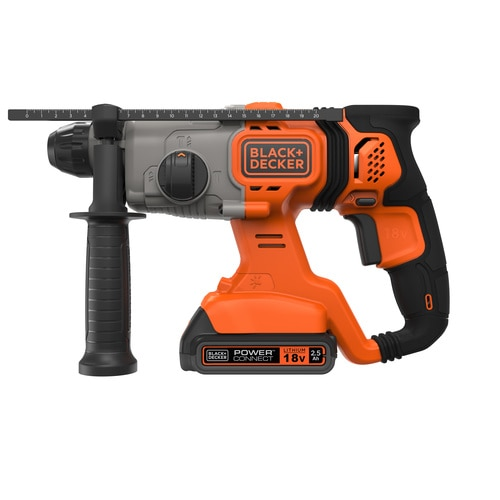 Black and Decker - 18V 25Ah SDS Pneumatische boorhamer in koffer - BCD900E2K