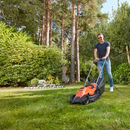 Black and Decker - 1200W 32cm Grasmaaier met Bikehandle handgreep - BEMW451