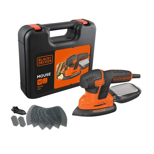 Black and Decker - 120W Next Generation Mouse detailschuurmachine met accessoires in koffer - KA2500K