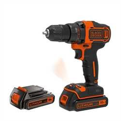 Black And Decker - 18V Lithium Ion Schroefboormachine met 2 snelheden - BDCDD186KB
