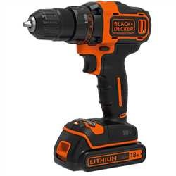 Black and Decker - 18V Lithium Ion Schroefboormachine met 2 snelheden - BDCDD186K