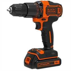 Black and Decker - 18V Lithium Accu klopboormachine met 2 snelheden - BDCHD18K