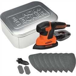 Black and Decker - 110W Next Generation Mouse detailschuurmachine met 10 accessoires in geschenkverpakking in blik - KA2000AT