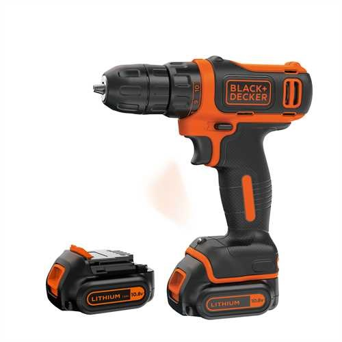 Black and Decker - 108V Ultra compacte Lithium Ion accuschroefboormachine in koffer - BDCDD12KB