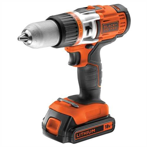 Black and Decker - 18V High Performance Accuklopboormachine met 2x 20Ah accus - EGBHP188BK2