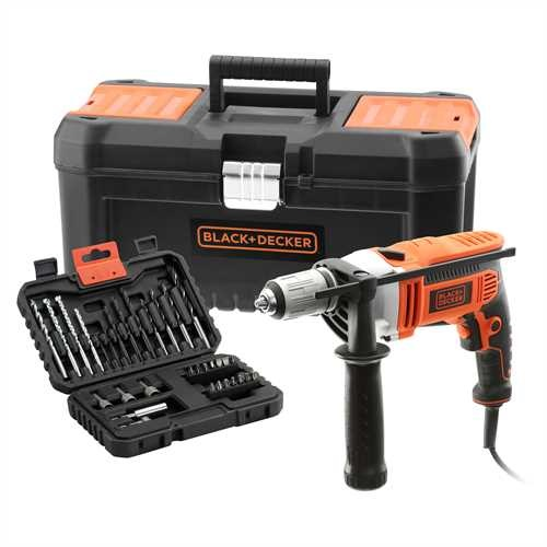 Black and Decker - 800W Klopboormachine met 32 accessoires in koffer - KR805K32